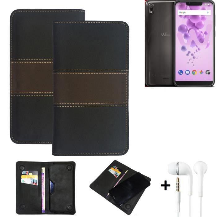 Housse + écouteursp. Wiko View 2 GO Etui pour téléphone portable Couverture - K-S-Trade® 184940