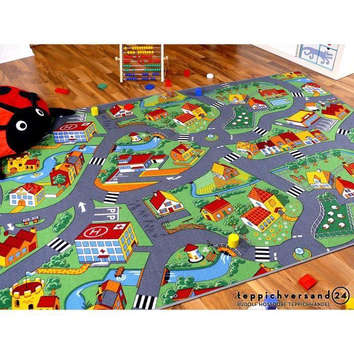 Tapis de jeu pour enfant Little village motifs village - 17 tailles disponibles [100x300 cm]