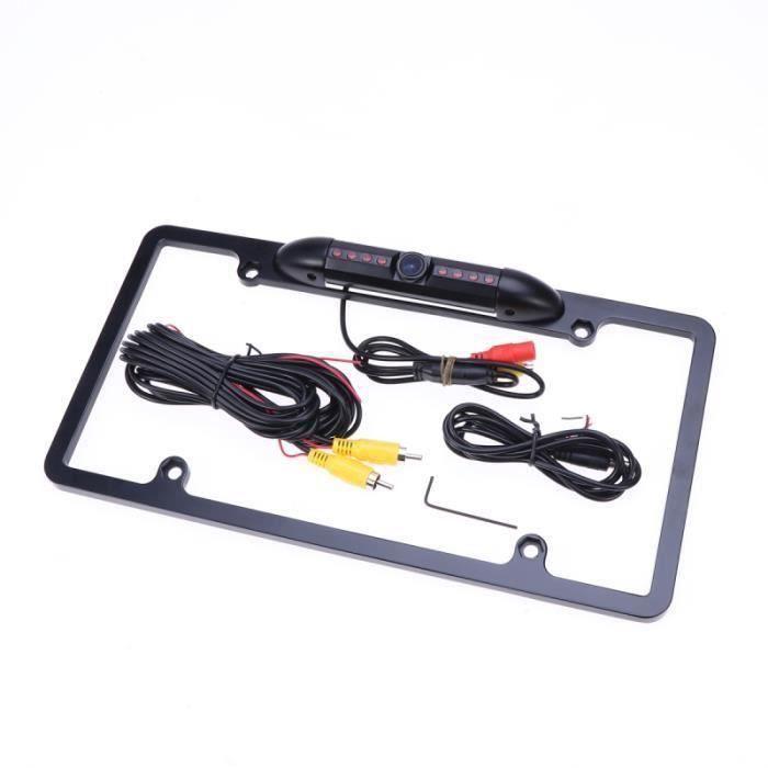 Plaque d'immatriculation 170 ° Angle haute sensibilité 8 LED infrarouges Caméra de recul de de RADAR DE RECUL - CAMERA DE RECUL