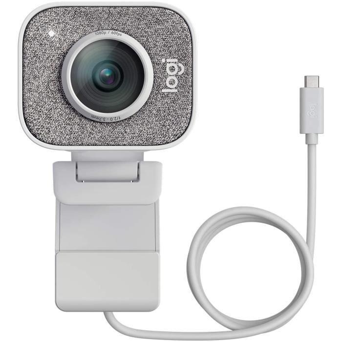Logitech Streamcam Webcam avec USB-C Pour Le Streaming Et La Création De Contenu, Vidéo Verticale Full HD 1080p, Double Fixation De