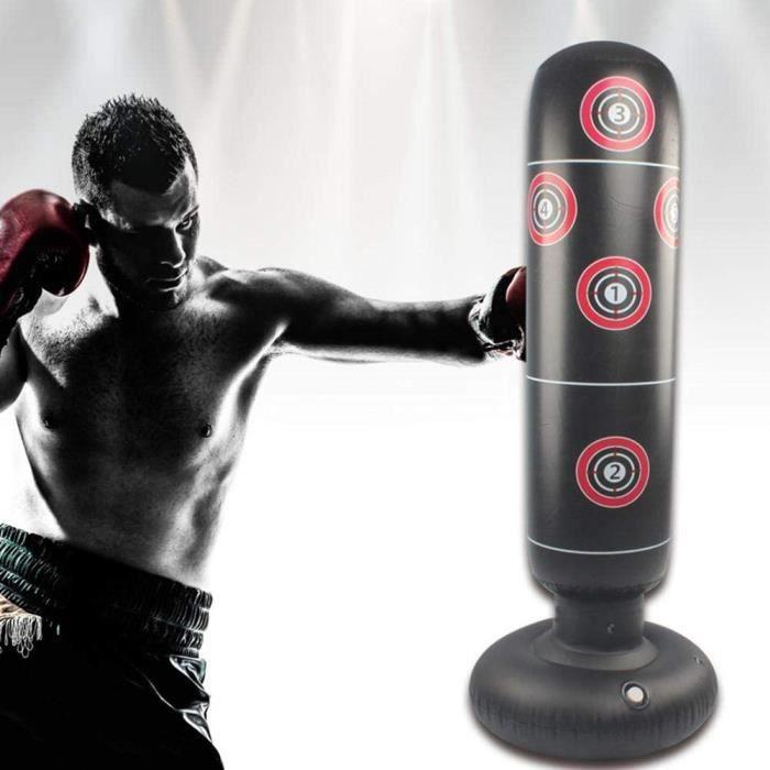 Sac De Boxe De Boxe Debout Stand-Excellente Qualité Robuste Sac De Boxe/Kick Boxing/ATS Martiaux 145cm-nior