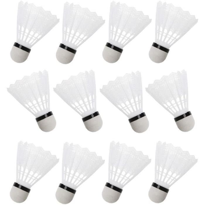 12 pcs blanc badminton volants en plastique intérieur en plein air gym accessoires de sport