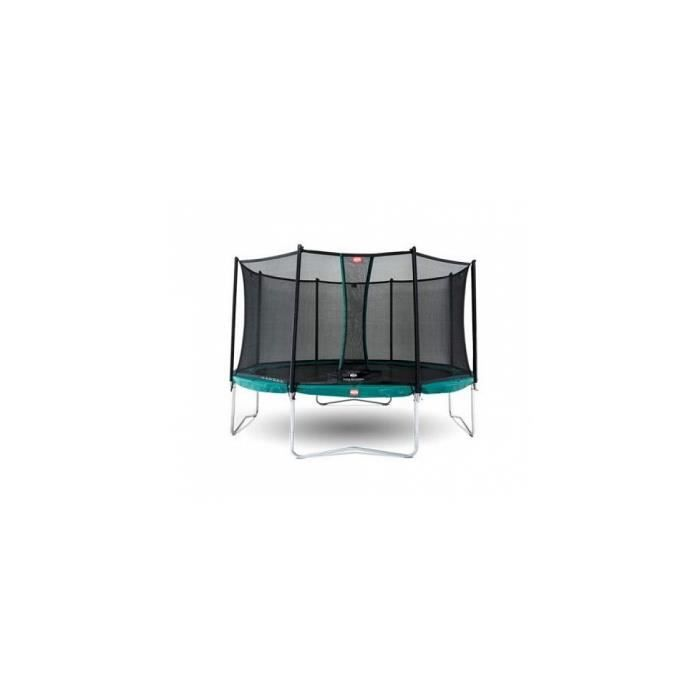 Trampoline BERG Favorit Regular 330 Green + Safety Net Comfort - Référence : 35.11.37.00