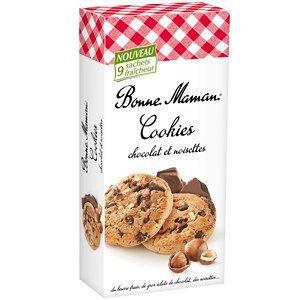 COOKIES CHOCOLAT NOISETTES 225G 0.2250 Kilo BONNE MAMAN