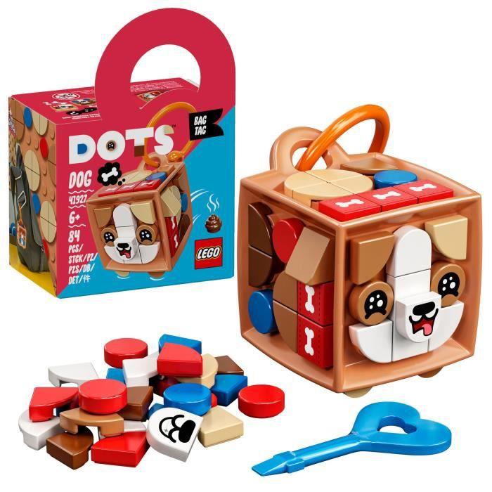 LEGO® 41927 DOTS Porte-clés chien – Accessoire et Loisirs créatifs, Décoration pour Filles et Garçons