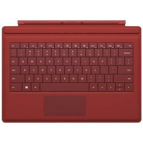 Clavier Rétroéclairé Microsoft Type Cover Pour Surface Pro 3, Rouge