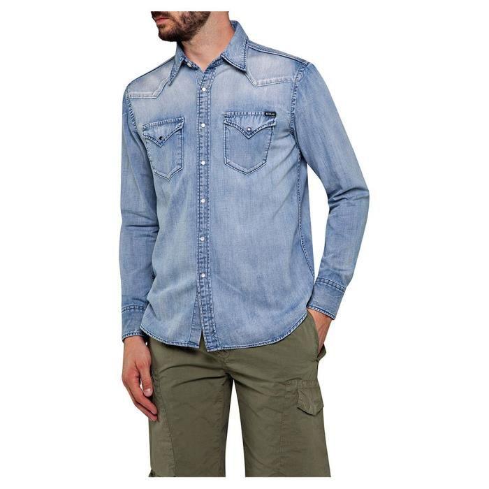 Vêtements Homme Chemises Replay M4023 Shirt