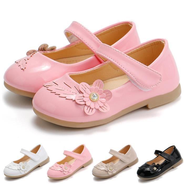 Chaussures de princesse pour fille tout-petit bébé enfants bébé fleurs sandales simples chaussures blanc 6254