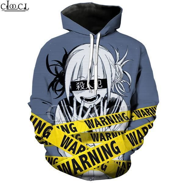 Sweatshirt Homme COSPLAY,Sweat à capuche Anime fille Toga Himiko My Hero Academia, impression 3D, à manches longues, pulls à capuc
