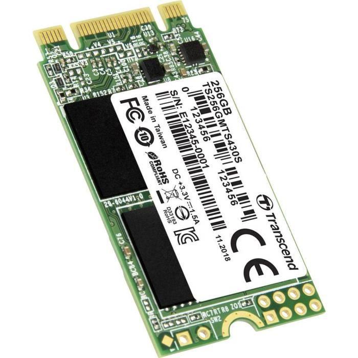 SSD interne SATA M.2 2242 Transcend MTS430S 256 Go