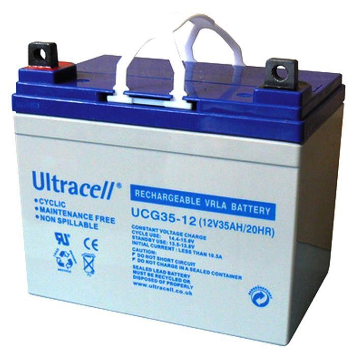 Batterie plomb gel rechargeable accumulateur solaire energie electrique - 12V 35AH
