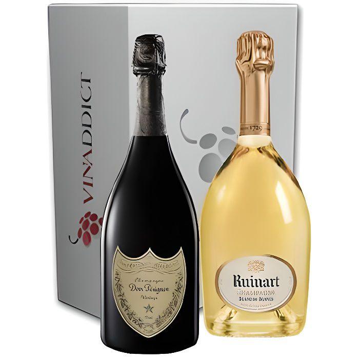 Coffret Vinaddict Champagnes Prestige - Dom Pérignon Vintage 2010 & Ruinart Blanc de Blancs