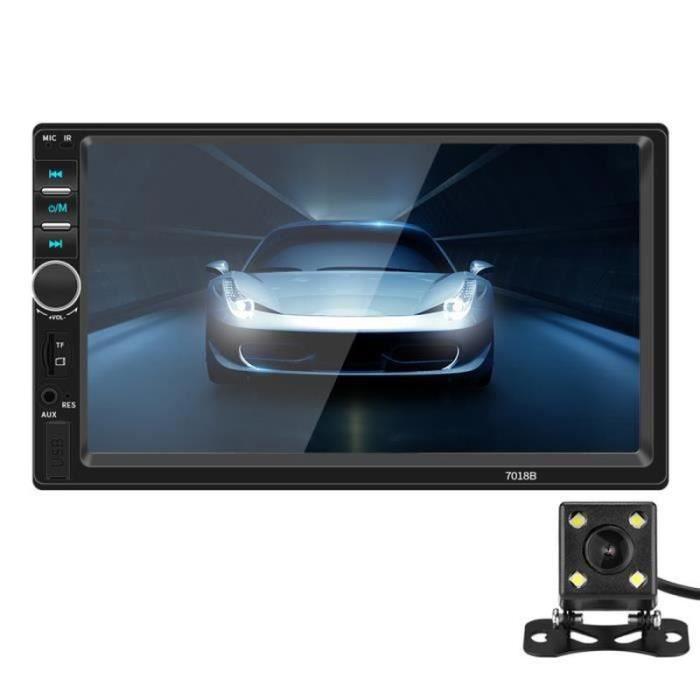 PC42799-Autoradio Bluetooth 2 Din 7 -écran tactile Mains Libres Lecteur multimédia MP5 Stéréo de voiture FM