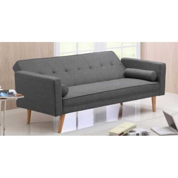 banquette clic clac noir en tissu tania achat vente clic clac cdiscount. Black Bedroom Furniture Sets. Home Design Ideas