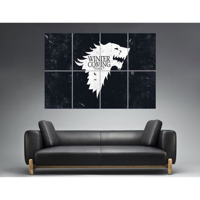 Game of Thrones Winter Is Coming Wall Art Poster Great Format A0 Wide Print