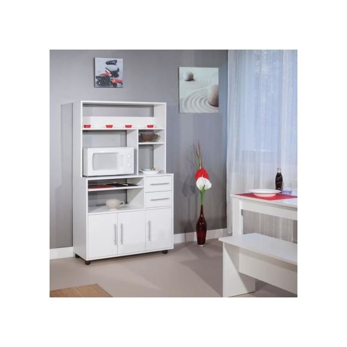 buffet desserte micro ondes blanc achat vente buffet de cuisine buffet desserte micro. Black Bedroom Furniture Sets. Home Design Ideas