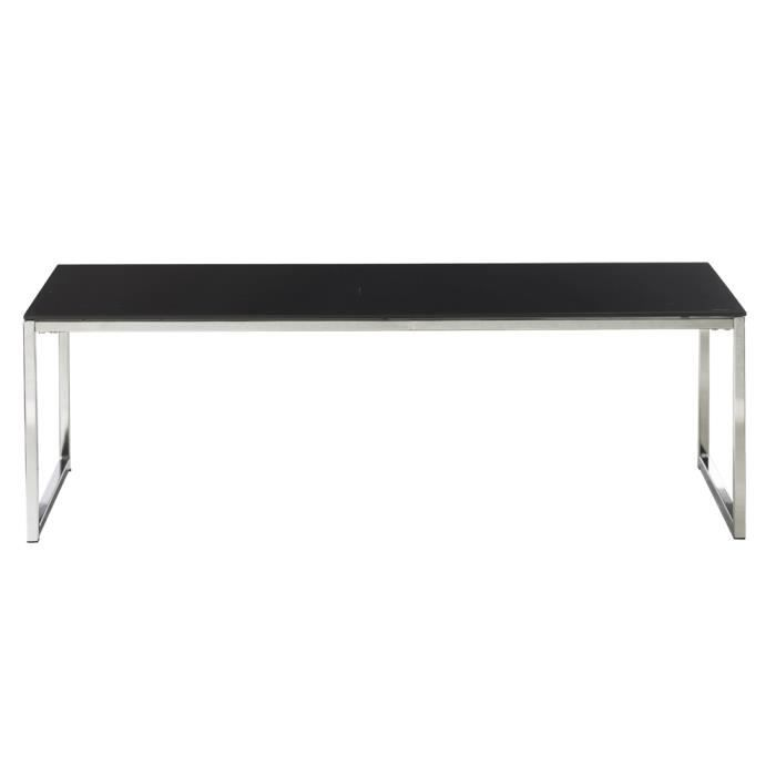 Table basse rectangulaire en verre et m tal achat for Table basse verre metal