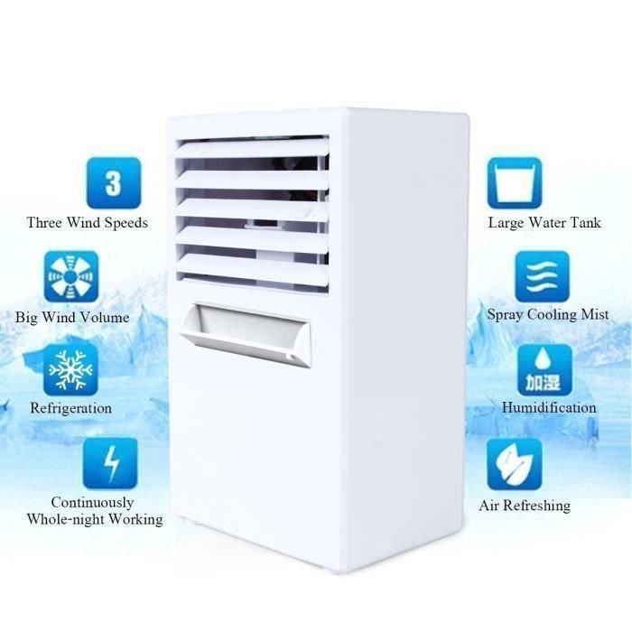 CLIMATISEUR MOBILE Climatiseur mobile,Refroidisseur D'air - 2 in 1 Cl