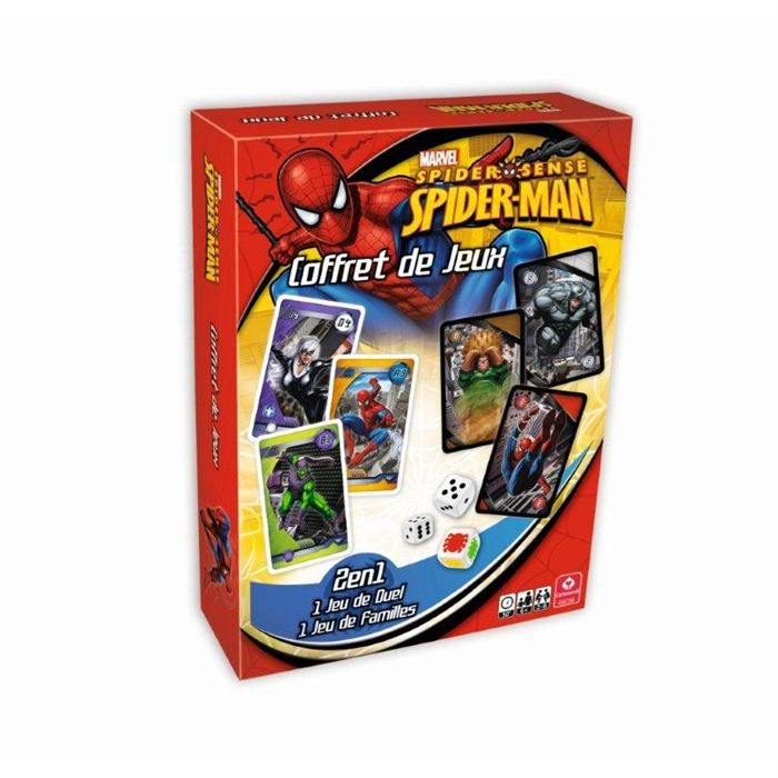 spiderman coffret jeux de cartes 2 en 1 achat vente jeu soci t plateau cdiscount. Black Bedroom Furniture Sets. Home Design Ideas
