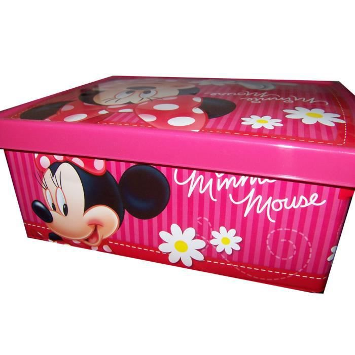 minnie disney grande boite de rangement minnie achat vente minnie disney grande boit. Black Bedroom Furniture Sets. Home Design Ideas