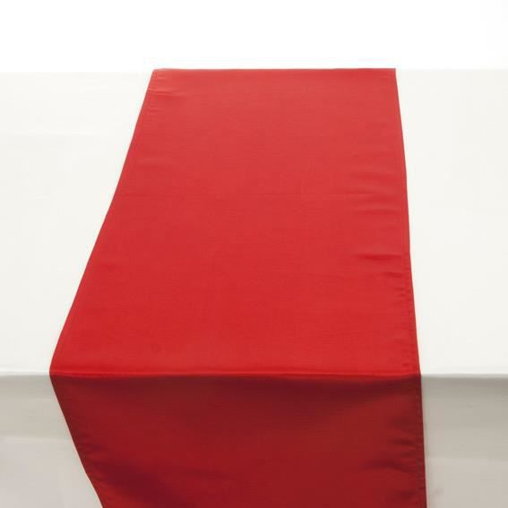 chemin de table satin rouge couleur principale rouge. Black Bedroom Furniture Sets. Home Design Ideas