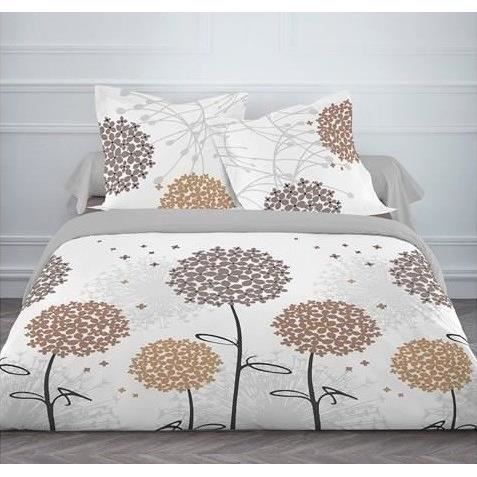 today housse de couette flanelle hortensia achat vente housse de couette cdiscount. Black Bedroom Furniture Sets. Home Design Ideas