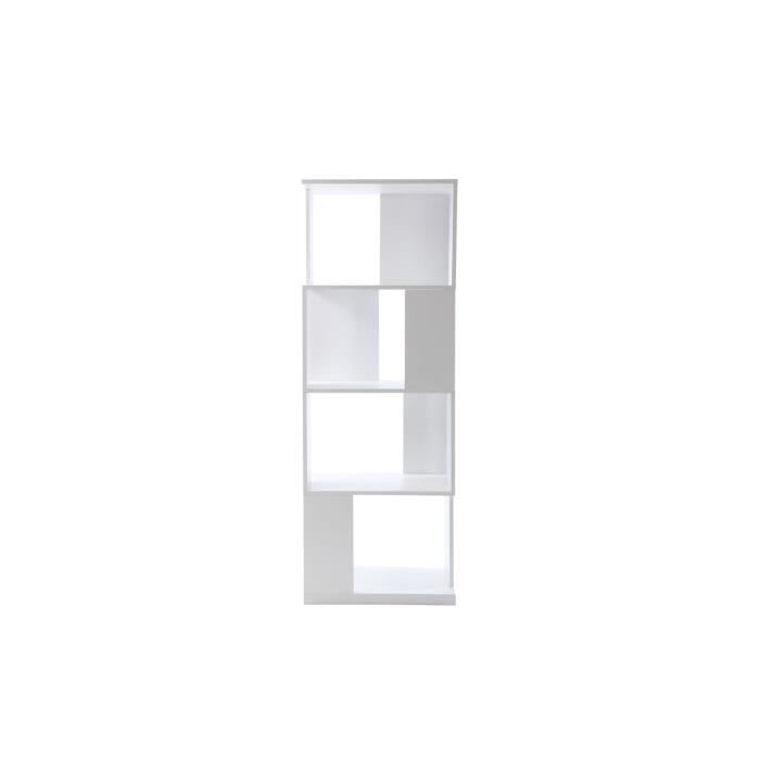 miliboo etag re biblioth que design blanc mat achat vente etag re murale kelio etagere. Black Bedroom Furniture Sets. Home Design Ideas