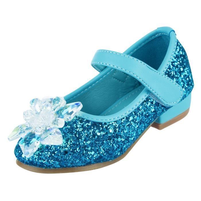 Feidaeu Filles Ballerines Confortable Casual Strass Princesse Chaussures Enfants Semelle Souple en Cuir Mary Jane Chaussures Habill/ées