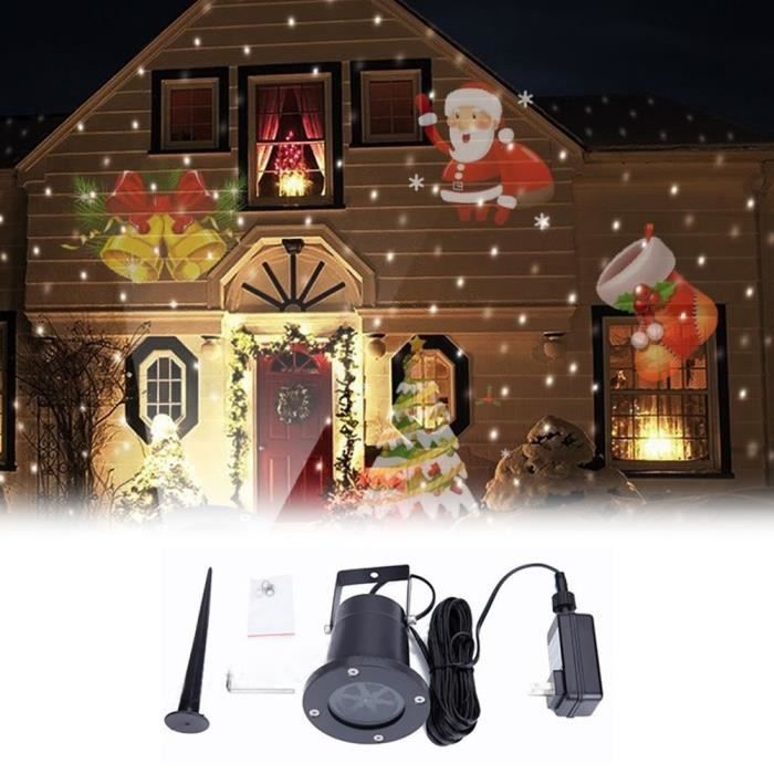 Projecteur ext rieur lumim re de jardin lampe d corative de no l avec flottants p re no l pour for Projecteur laser decoration de noel