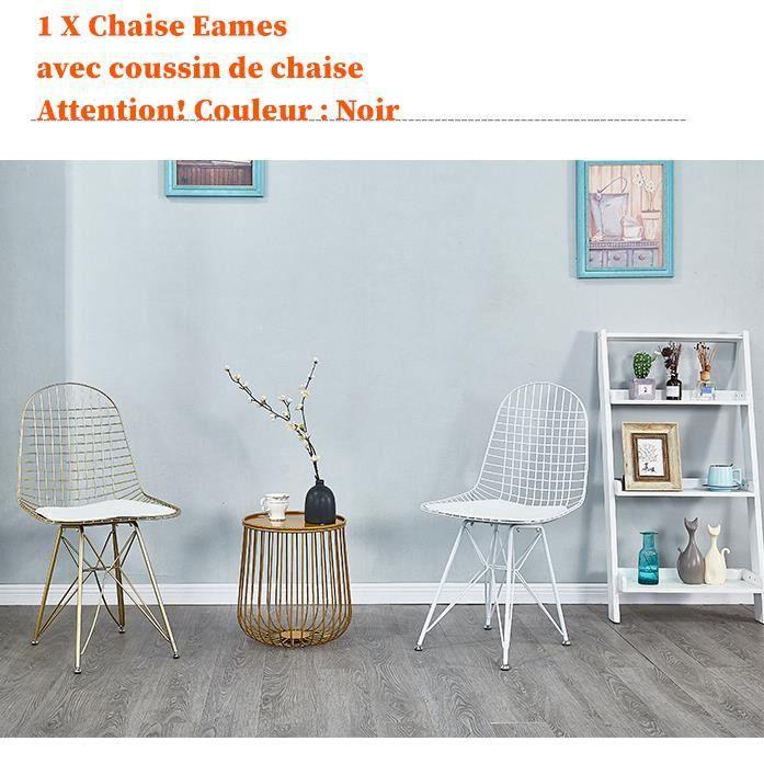 1 Pcs Chaise En Metal Chaise Eiffel Ikea Style Industriel Creux