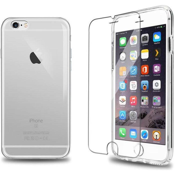 verre trempe coque tpu transparent iphone 6s 6