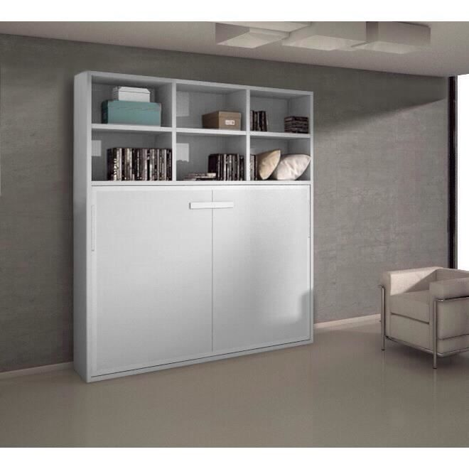 lit escamotable joy 140x200 ch ne blanc etag res achat. Black Bedroom Furniture Sets. Home Design Ideas