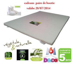 surmatelas 160x200 achat vente surmatelas 160x200 pas cher cdiscount. Black Bedroom Furniture Sets. Home Design Ideas