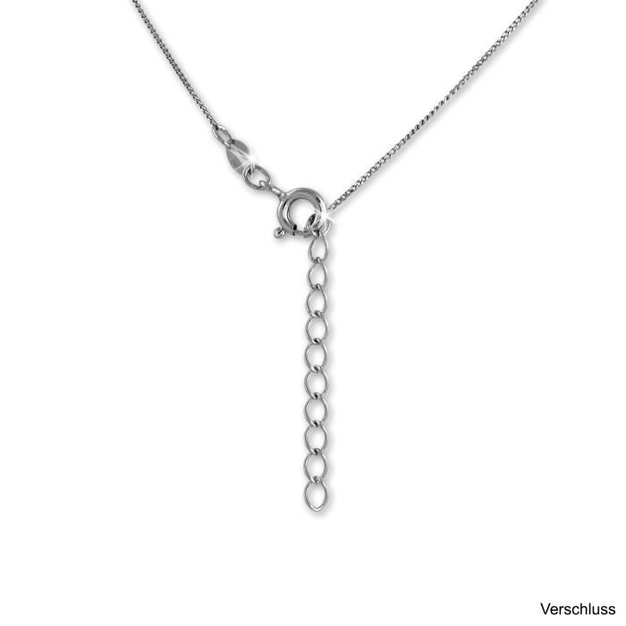 SilberDream Bicolore Collier Chaine Rose 925 Argent Sterling 44cm - 47cm SDK50144T