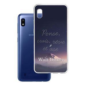 cuzz Coque Samsung Galaxy A70+{1 Pi/èces Prot/ège /Écran en Verre Tremp/é}Couleur Unie Premium Flexible Souple Silicone TPU Etui Mince Ultra-Lumi/ère Anti-d/érapante {Rose Clair}