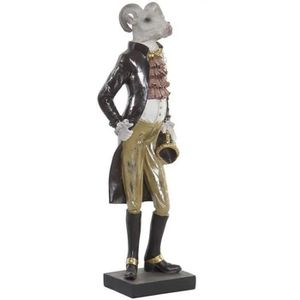 STATUE - STATUETTE Statuette Figurine Animal Bouc Napoléon déco - hab