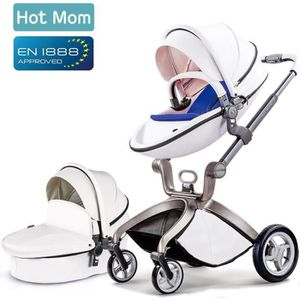 POUSSETTE  Hot Mom Poussette 2 IN 1 ,Blanc