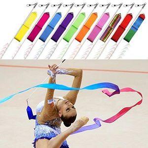 R 4M Gym rythmique dance Ruban Art Banderole de Ballet gymnastique T M1U SODIAL