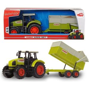 VOITURE - CAMION DICKIE - Tracteur avec remorque CLAAS 57cm