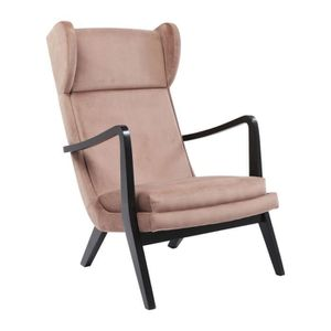 FAUTEUIL Fauteuil relax Silence velours rose Kare Design