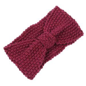 VIN ROUGE BH Crochet Fleur Noeud Tricote Tete Enveloppe Band