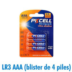 PILES Piles AAA LR3 Ultra Alcaline PKCell 1.5V