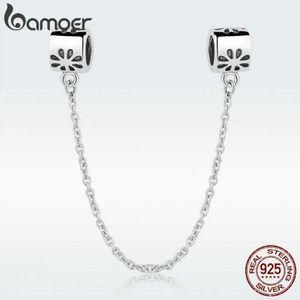 Bamoer européen S925 Sterling Silver Charm émail famille heureuse Fit Bracelet