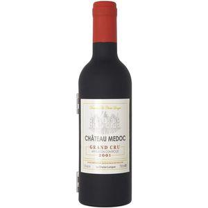 Sommelier Weinset en verre de vin forme ouvre-bouteille Tire-bouchon Vin Boîte Cadeau