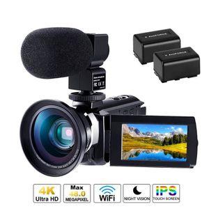 CAMÉSCOPE NUMÉRIQUE Caméscope 4K Caméra Numérique Ultra HD 1080P 60FPS