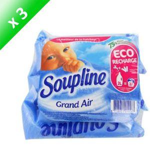 ADOUCISSANT SOUPLINE Doses Grand air - 200 ml - Lot de 3 x 3