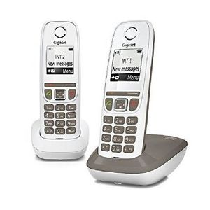 Téléphone fixe Gigaset AS470 Duo Umbra - Téléphone DECT - Pack Du