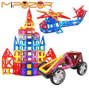 GARAGE - BATIMENT MIPOZOR 200 pcs Mini Magnétique Blocs De Construct