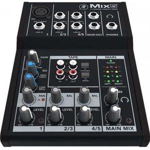 TABLE DE MIXAGE Mackie MIX5 - Table de mixage 5 voies