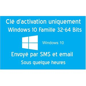 CLÉ USB Clé d'activation licence original pour Windows 10